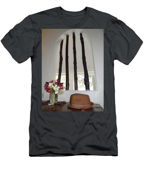 African Table With Flowers And Hat Men's T-Shirt (Athletic Fit)
