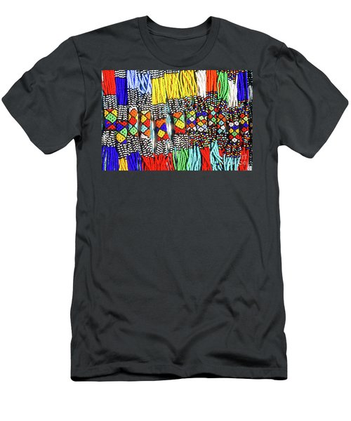 African Tribal Necklaces Men's T-Shirt (Athletic Fit)