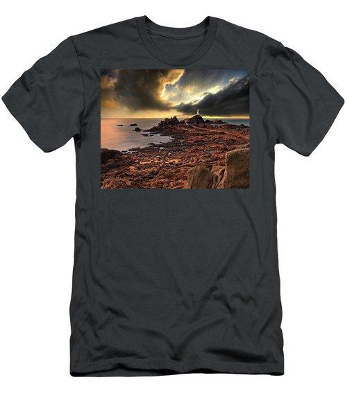 after the storm at La Corbiere Men's T-Shirt (Athletic Fit)