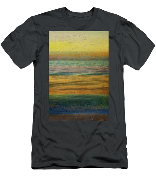 Men's T-Shirt (Athletic Fit) featuring the photograph After The Sunset - Yellow Sky by Michelle Calkins
