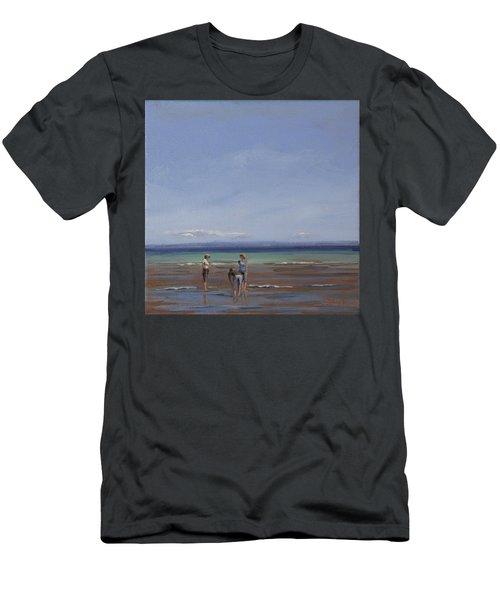After The Walk II Men's T-Shirt (Slim Fit) by Trina Teele