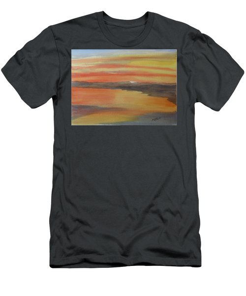 Men's T-Shirt (Athletic Fit) featuring the painting Afterglow by Joel Deutsch