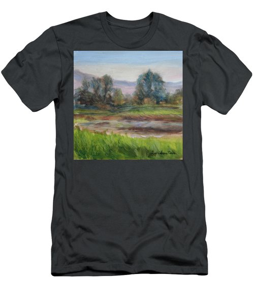Afternoon At Sauvie Island Wildlife Viewpoint Men's T-Shirt (Athletic Fit)
