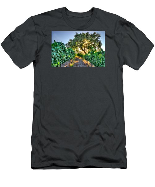 Afternoon In The Vineyard Men's T-Shirt (Slim Fit) by Derek Dean