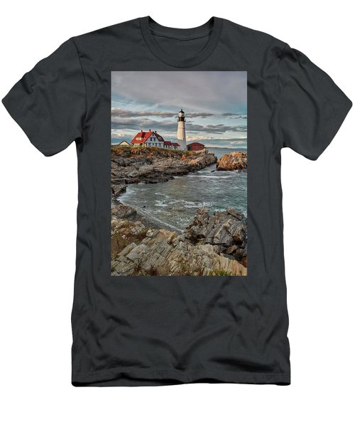 Afternoon Light At Cape Neddick Men's T-Shirt (Athletic Fit)