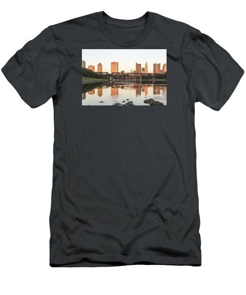 Men's T-Shirt (Slim Fit) featuring the photograph Afternoon Sun Columbus by Alan Raasch