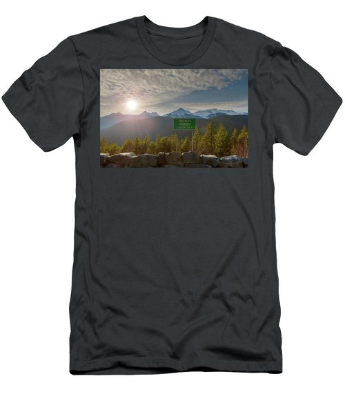 Afternoon Sun Over Tantalus Range From Lookout Men's T-Shirt (Athletic Fit)
