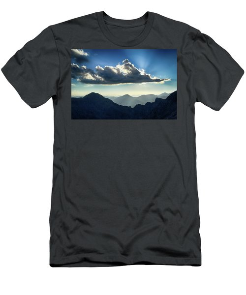 Men's T-Shirt (Slim Fit) featuring the photograph Afternoon Sunburst by Marie Leslie