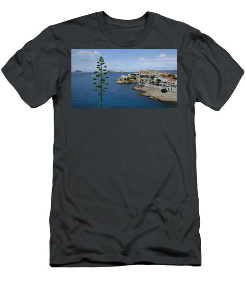 Men's T-Shirt (Athletic Fit) featuring the photograph Agave At Corniche by August Timmermans