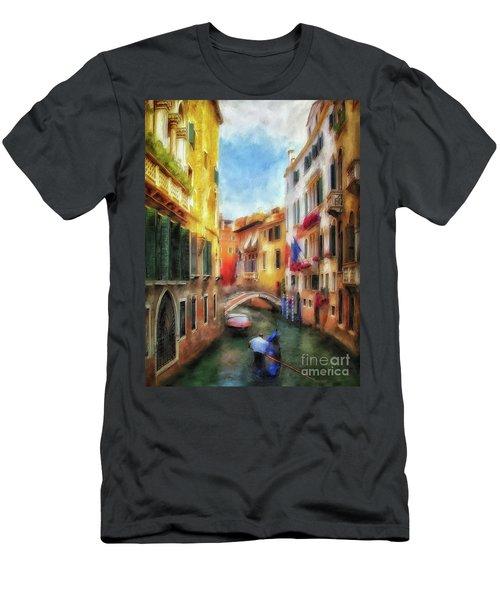 Men's T-Shirt (Slim Fit) featuring the digital art Ahh Venezia Painterly by Lois Bryan