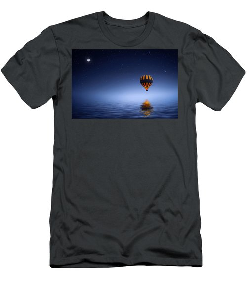 Men's T-Shirt (Slim Fit) featuring the photograph Air Ballon by Bess Hamiti