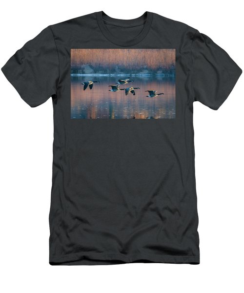 Men's T-Shirt (Athletic Fit) featuring the photograph Air Canada by Ricky L Jones