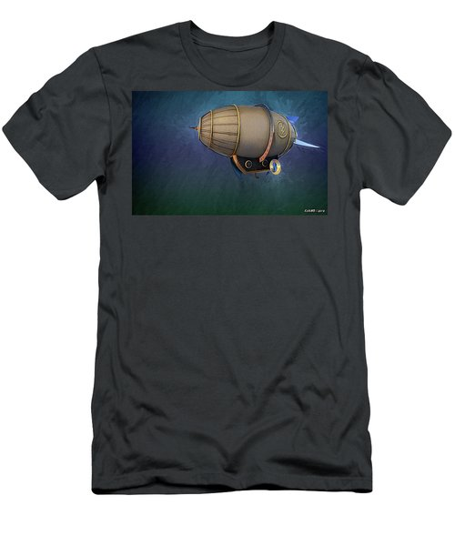 Airship In Flight Men's T-Shirt (Athletic Fit)