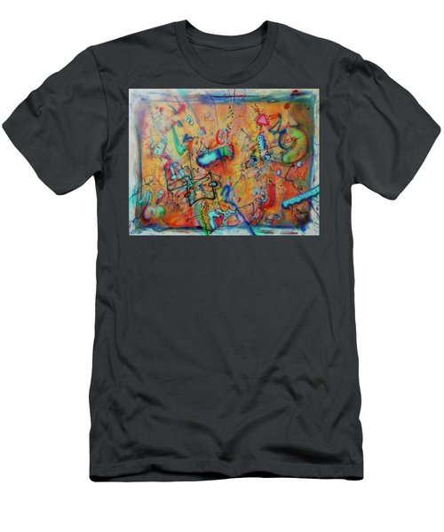 Digital Landscape, Airbrush 1 Men's T-Shirt (Slim Fit) by Pierre Van Dijk