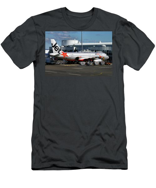 Airbus A320-232 Men's T-Shirt (Slim Fit) by Tim Beach