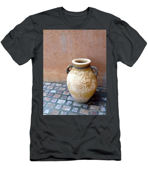 Men's T-Shirt (Athletic Fit) featuring the photograph Al Ain Urn by Barbara Von Pagel