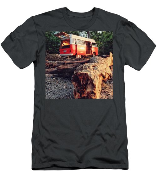 Alani By The River Men's T-Shirt (Slim Fit) by Andrew Weills