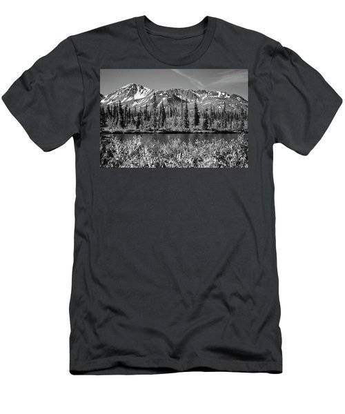Alaska Mountains Men's T-Shirt (Slim Fit) by Zawhaus Photography
