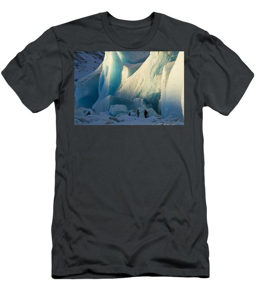 Men's T-Shirt (Slim Fit) featuring the photograph Alaskan Glacier Last Rays Of Light by Yulia Kazansky