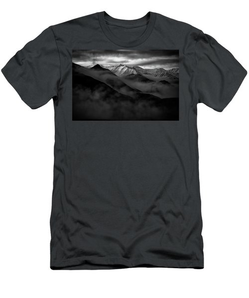 Men's T-Shirt (Athletic Fit) featuring the photograph Alaskan Peak In The Shadows by Rick Berk