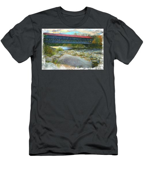 Albany Covered Bridge Nh. Men's T-Shirt (Athletic Fit)