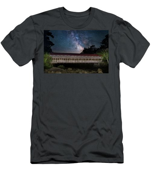 Albany Covered Bridge Under The Milky Way Men's T-Shirt (Athletic Fit)