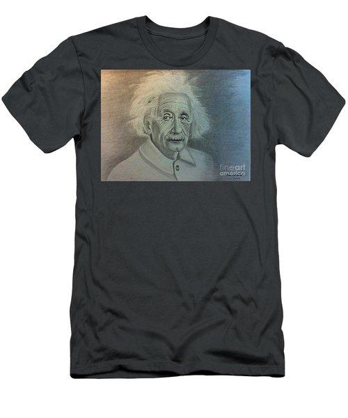 Albert Einstein Portrait Men's T-Shirt (Athletic Fit)