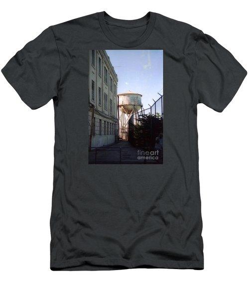 Alcatraz Water Tank  Men's T-Shirt (Slim Fit) by Ted Pollard