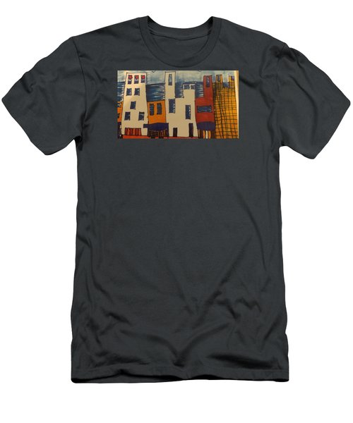 Men's T-Shirt (Slim Fit) featuring the painting Algiers by Don Koester