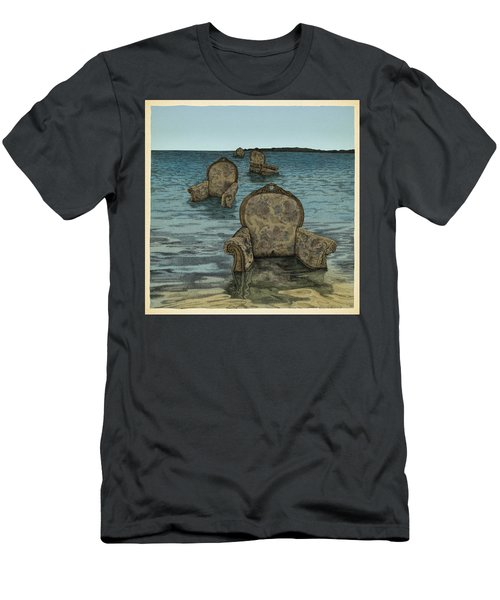 Men's T-Shirt (Slim Fit) featuring the drawing Alices Tears by Meg Shearer