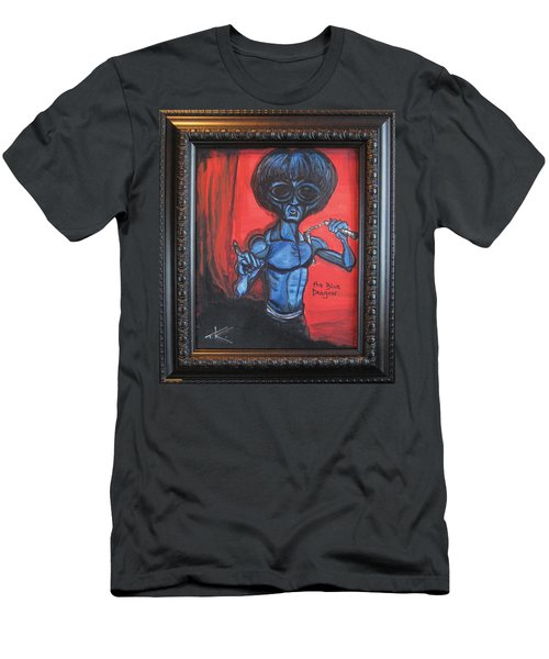 alien Bruce Lee Men's T-Shirt (Athletic Fit)