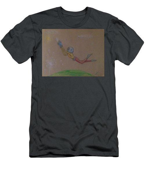 Alien Chasing His Dreams Men's T-Shirt (Athletic Fit)