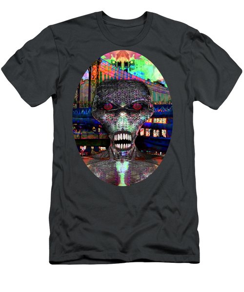 Alien Portrait Men's T-Shirt (Athletic Fit)