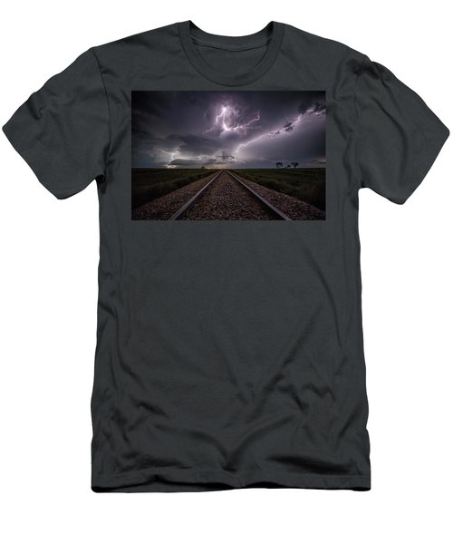 Men's T-Shirt (Athletic Fit) featuring the photograph All Aboard  by Aaron J Groen