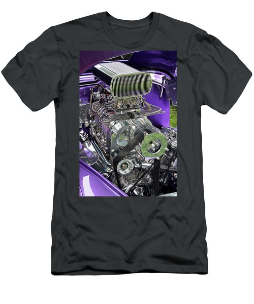 All Chromed Engine With Blower Men's T-Shirt (Athletic Fit)