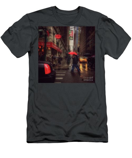 All That Jazz. New York In The Rain. Men's T-Shirt (Athletic Fit)