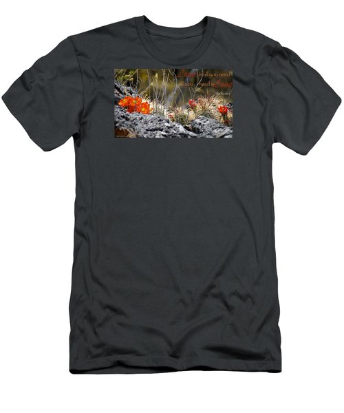 Men's T-Shirt (Slim Fit) featuring the photograph All We Need by David Norman