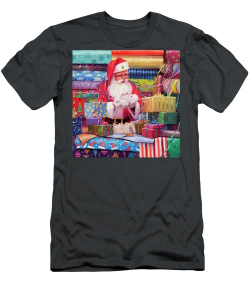 Men's T-Shirt (Athletic Fit) featuring the painting All Wrapped Up by Steve Henderson