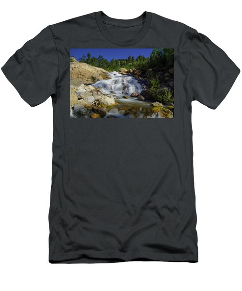 Alluvial Sands Water Fall Men's T-Shirt (Athletic Fit)