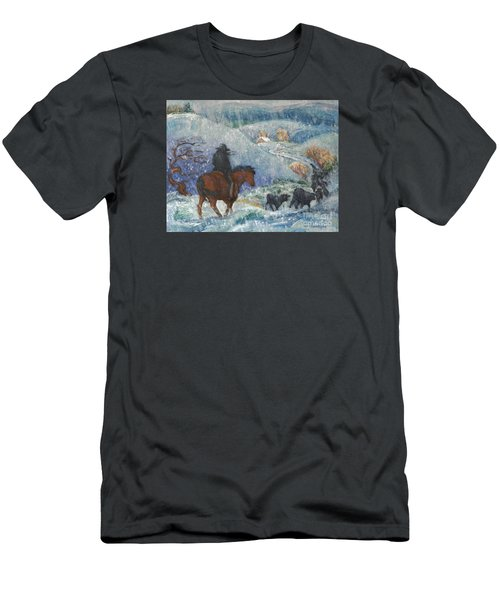 Almost Home Men's T-Shirt (Slim Fit) by Dawn Senior-Trask
