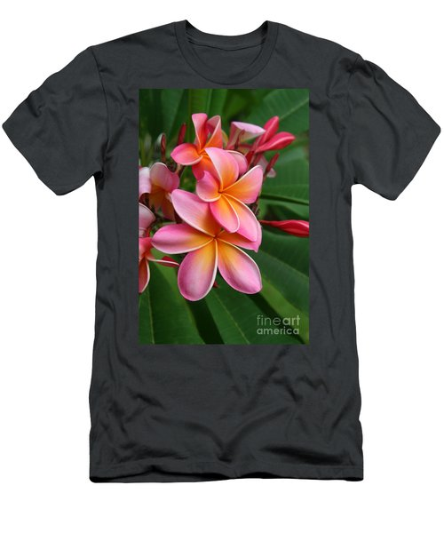Aloha Lei Pua Melia Keanae Men's T-Shirt (Athletic Fit)