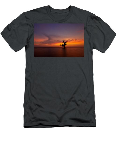 Men's T-Shirt (Slim Fit) featuring the photograph Alone by Evgeny Vasenev