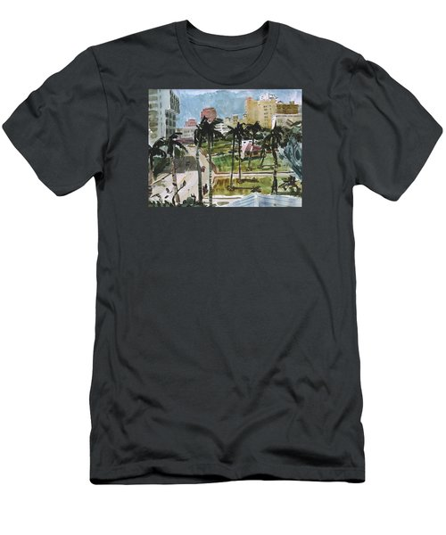 Along Flagler Drive Men's T-Shirt (Athletic Fit)