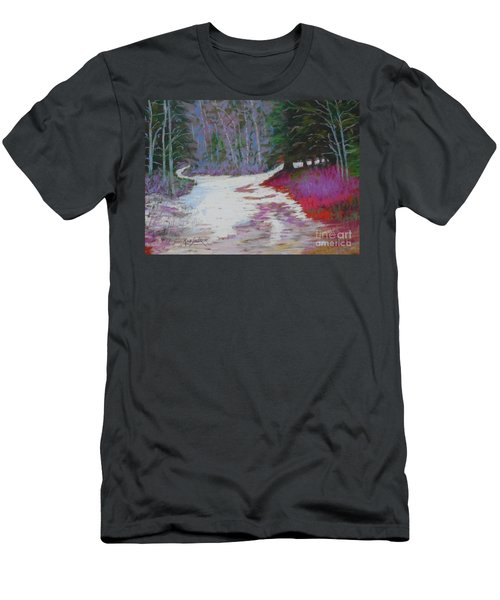 Along The 103  Men's T-Shirt (Slim Fit) by Rae  Smith PAC