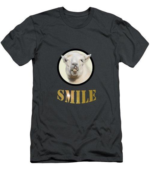 Alpaca Smile  Men's T-Shirt (Athletic Fit)