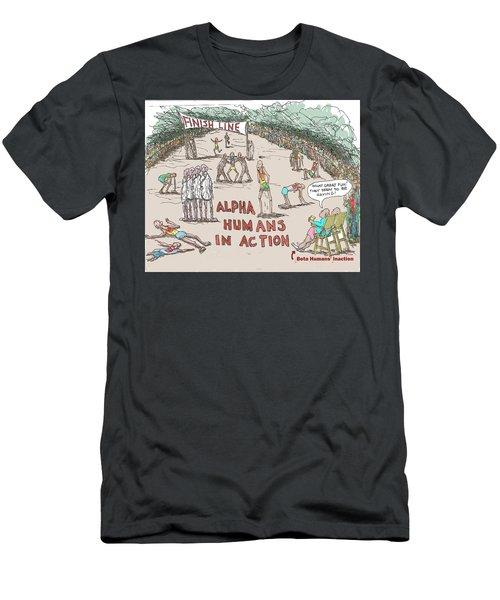Alpha V. Beta Men's T-Shirt (Athletic Fit)
