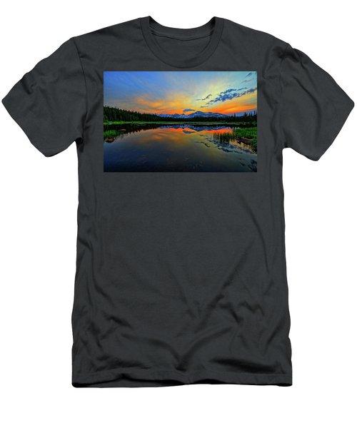Men's T-Shirt (Slim Fit) featuring the photograph Alpine Lake Glow by Scott Mahon