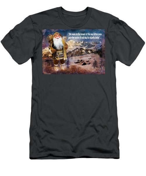 Alpine Santa Card 2015 Men's T-Shirt (Athletic Fit)
