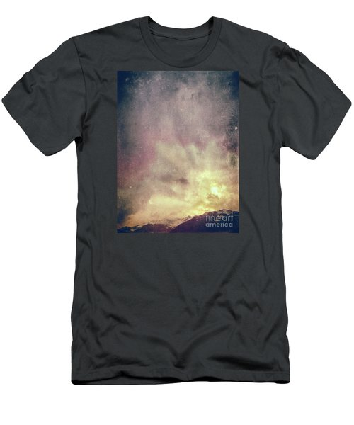 Men's T-Shirt (Athletic Fit) featuring the photograph Alps With Dramatic Sky by Silvia Ganora