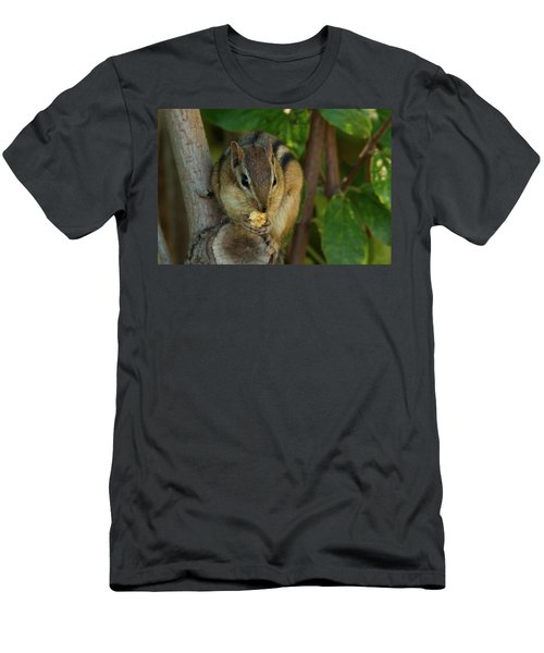 Men's T-Shirt (Athletic Fit) featuring the photograph Alvin Eating 1 by Brian Hale
